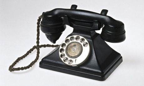A dial telephone from the 1930s that will appear in the Information Age exhibition