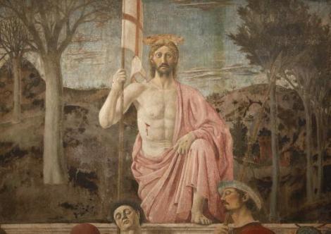 "Renaissance painter Piero della Francesca's masterpiece ""The Resurrection"" is seen in the Civic museum in Sansepolcro"