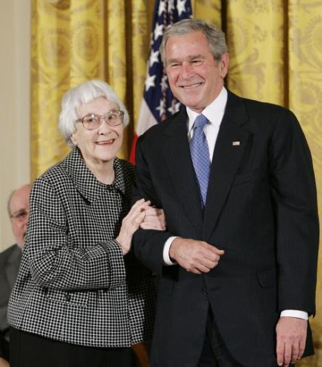 File photo of U.S. President George W. Bush awarding the Presidential Medal of Freedom in Washington