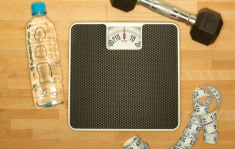 water+weight+scale+exercise+tape+measure
